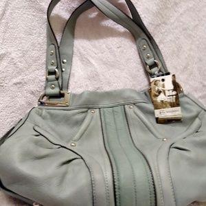 B MARKOWSKY pale green hobo purse NWT